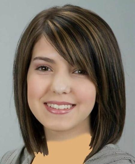 مدل مو برای صورت های گرد و تپل