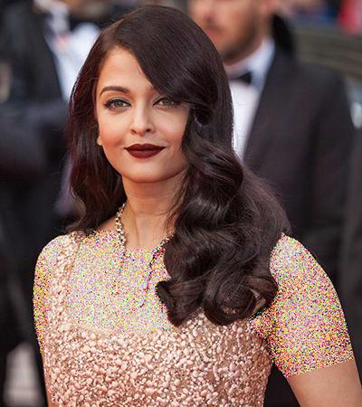 مدل موی باز به سبک آیشواریا رای، زیباترین هنرپیشه بالیوود