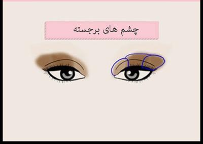 طرز آرایش چشم