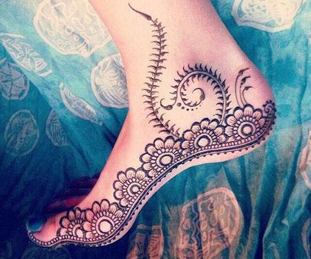 مدلهای زیبا از نقش حنا روی پا