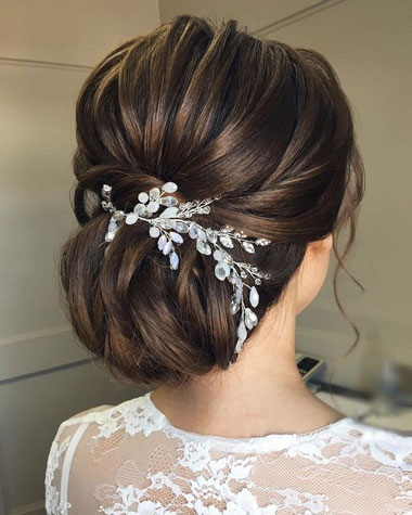 آرایش موی عروس,شنیون عروس,مدل موی فرمالیته