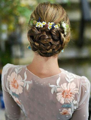 عروس فرمالیته,مدل موی فرمالیته عروس,شنیون با موی روشن
