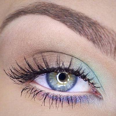 آرایش چشم رنگی,مدل آرایش چشم,آرایش چشم با لنز رنگی