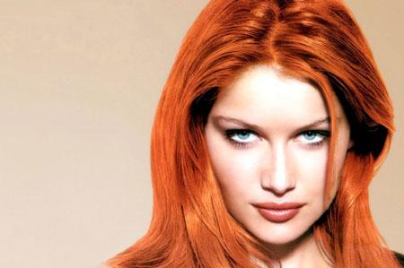 رنگ مو مسی,رنگ مسی تیره بدون دکلره,رنگ موی مسی آتشی