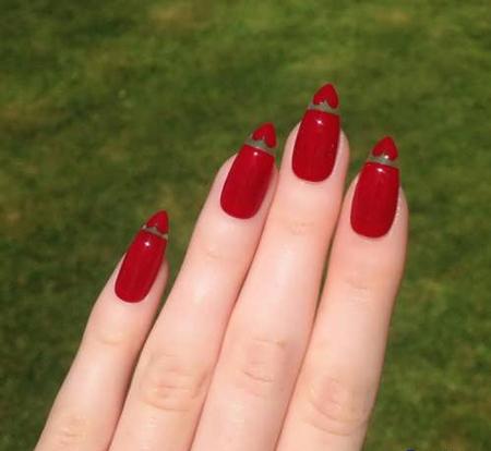 لاک قرمز ناخن, طرح ناخن قرمز, طراحی لاک قرمز