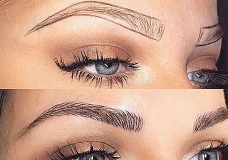 eyebrow plucking 4 - هاشور ابرو