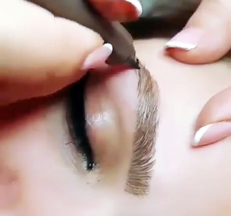 eyebrow plucking 5 - هاشور ابرو