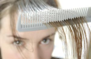 ریزش مو در خانمها