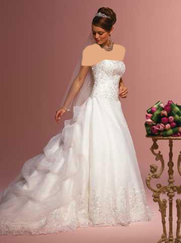 مدل لباس عروس ویسگون