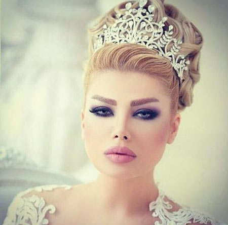 عکس مدل آرایش مو عروس,آرایش مو عروس,شینیون عروس