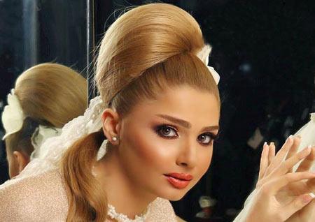 انواع آرایش مو عروس,عکس مدل آرایش مو عروس,شینیون عروس