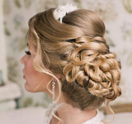 آرایش مو عروس,تصاویر مدل آرایش مو عروس,شینیون عروس