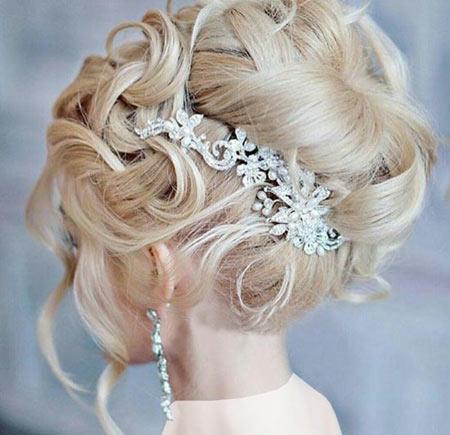 آرایش مو عروس,عکس مدل آرایش مو عروس,شینیون عروس