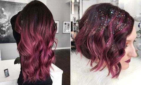 آرایش موهای کم پشت,رنگ موی مناسب برای موهای کم پشت,مدل موی آمبره