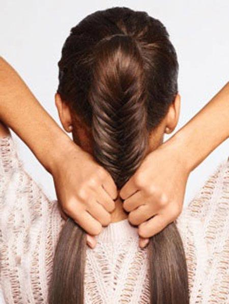 بافت موی تیغ ماهی,آموزش بافت مو به روش تیغ ماهی,آموزش بافت مو تیغ ماهی