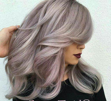 رنگ موی صدفی دودی,ترکیب رنگ مو صدفی دودی,رنگ موی صدفی دودی جذاب