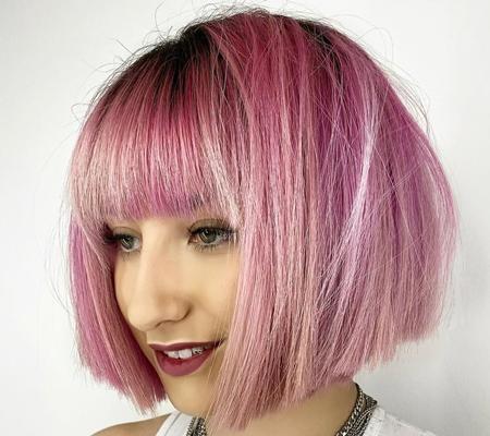 رنگ مو صورتی,جذاب ترین رنگ مو صورتی,با کلاس ترین و جذاب ترین رنگ مو صورتی