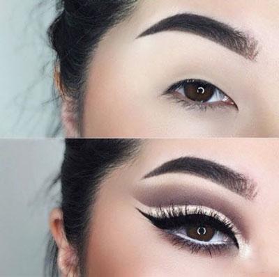 آرایش چشم پف دار,چشم پف دار,مدل آرایش چشم