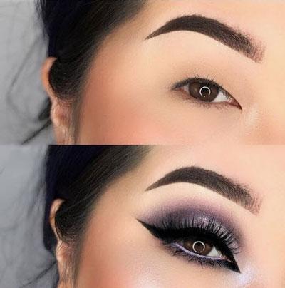 آرایش چشم پف دار,چشم پف دار,آرایش چشم