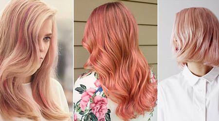 رنگ رزگلد,رنگ موی رزگلد,طيف رزگلد