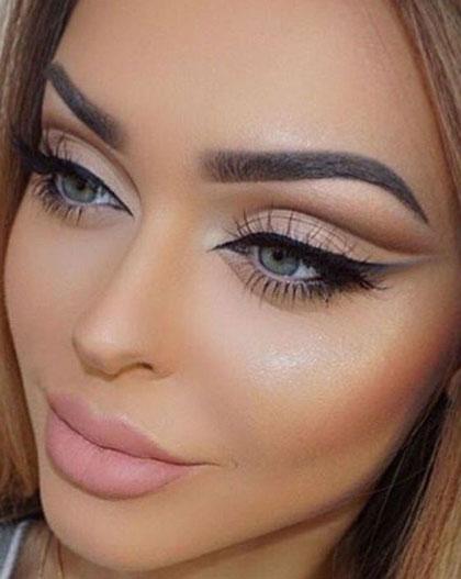 آرایش برنزه,مدل آرایش برنزه,آرایش چشم