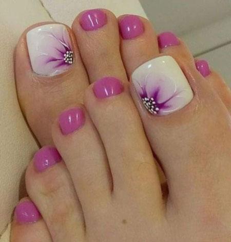 دیزاین ناخن پا,عکس های ناخن پا,طراحی ناخن