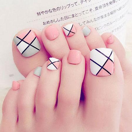 دیزاین ناخن پا,عکس ناخن,ناخن پا