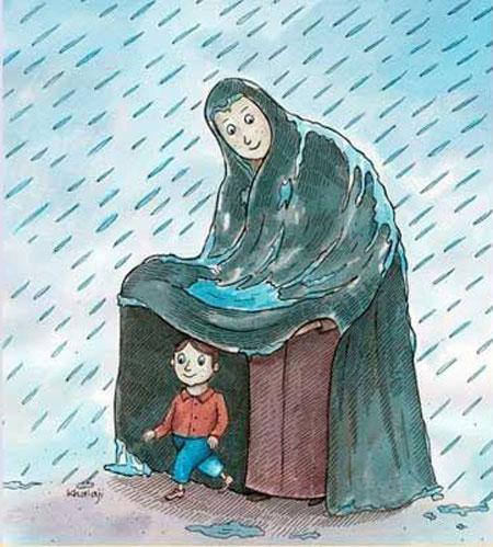 نقاشی روز مادر,نمونه نقاشی روز مادر,نقاشی روز مادر کودکانه