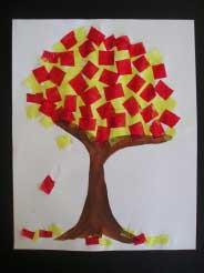 کاردستی درخت,کاردستی درخت پاییزی