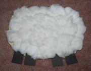 آموزش کاردستی گوسفند پنبهای,گوسفند پنبه ای