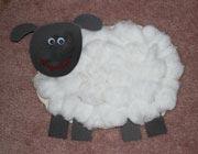 آموزش کاردستی گوسفند,آموزش کاردستی گوسفند پنبهای