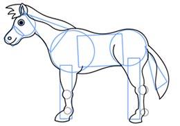 ba2256 6 آموزش نقاشی اسب