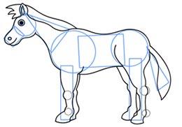 ba2256 7 آموزش نقاشی اسب
