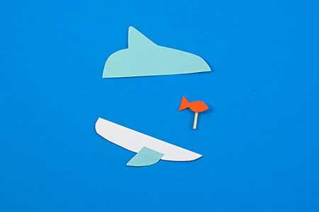 کاردستی,کاردستی کوسه,کاردستی ماهی