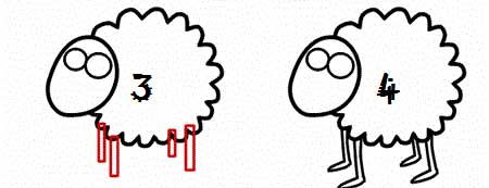 گوسفند کارتونی,نقاشی گوسفند کارتونی