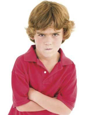 بدقلقی کودکان,بد اخلاقی در کودکان,لجبازی در کودکان
