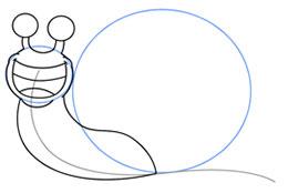نقاشی کشیدن،آموزش گام به گام نقاشی حلزون