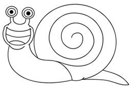نقاشی کشیدن,آموزش گام به گام نقاشی حلزون,سایت آموزش نقاشی