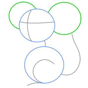 نقاشی کردن,آموزش تصویری نقاشی موش