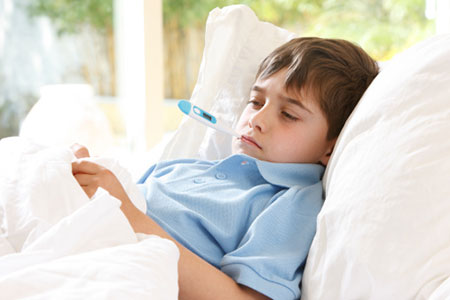 تشخیص علائم بالینی آنفولانزا در کودکان
