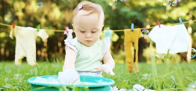 طریقه شستن لباس نوزاد,نحوه شستن لباس نوزاد