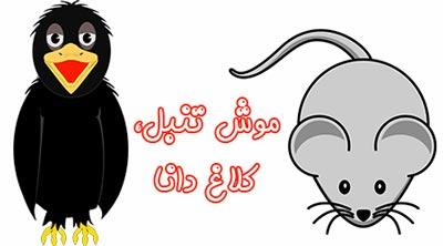 قصه کودکانه موش تنبل، کلاغ دانا