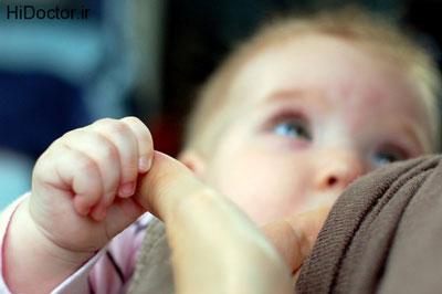 رفع نفخ شیر مادر,کاهش نفخ شیر مادر