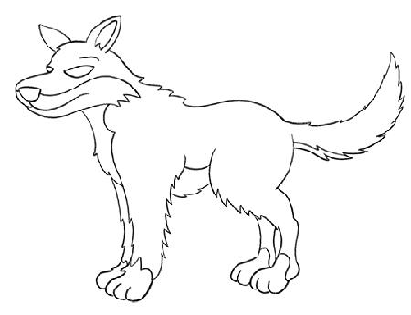 آموزش نقاشی گرگ به کودکان,آموزش نقاشی گرگ به بچه ها