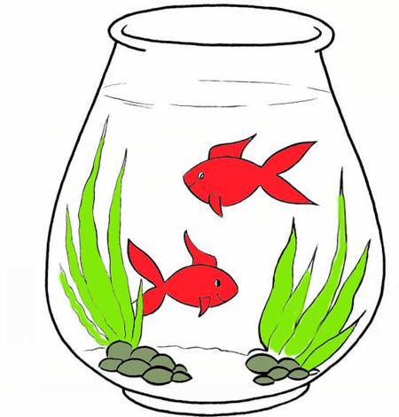 نقاشی تنگ ماهی برای عید