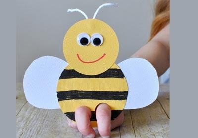 زنبور مقوایی,کاردستی کودکانه