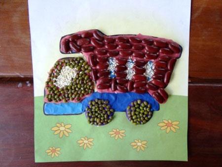 کاردستی یا نقاشی ویژه دهه کرامت کاردستی زیبا با حبوبات