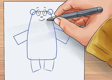 نقاشی خرس,عکس نقاشی خرس,نقاشی خرس عروسکی