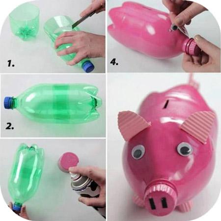 کاردستی با بطری, آموزش کاردستی با بطری,ساخت کاردستی با بطری پلاستیکی