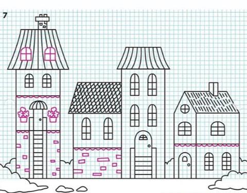 آموزش کشیدن نقاشی ساختمان ها,آموزش کشیدن نقاشی خانه,آموزش نقاشی به کودک